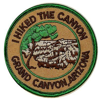 I Hiked The Grand Canyon National Park Iron On Travel Souvenir Applique Patch