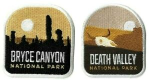 Bryce-Canyon-amp-Death-Valley-National-Park-Patch-Lot-of-2-Iron-or-Sew-On-Parks