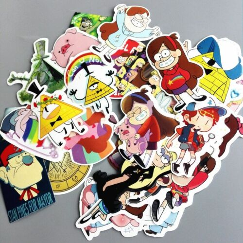 26pc Anime Gravity Falls Stickers For Car Laptop Luggage Skateboard