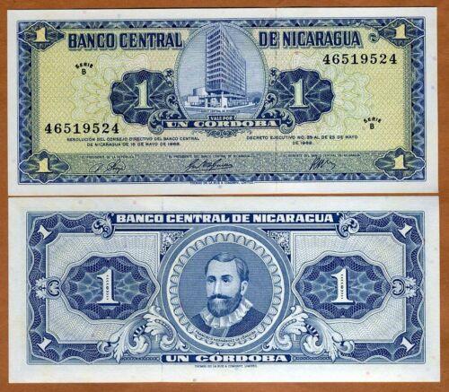 1968 Nicaragua Pick 115 B-Serie UNC 1 cordoba