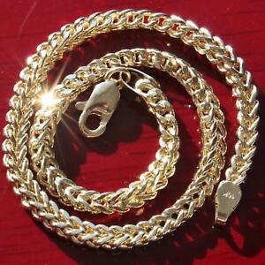 10k-yellow-gold-diamond-cut-Franco-link-chain-bracelet-8-5-034-vintage-3-9gr