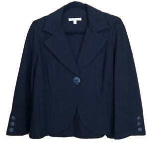 NEW-CAbi-Black-One-Button-Ponte-Jacket-177-Size-M
