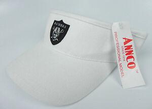LAS-VEGAS-RAIDERS-WHITE-NFL-AMERICAN-NEEDLE-ANNCO-REPLICA-VISOR-CAP-HAT-NWT
