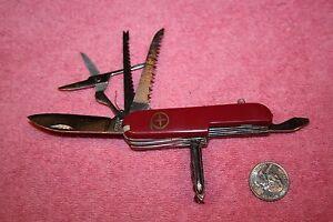 Vintage Red Hand China Pocket Knife Ebay