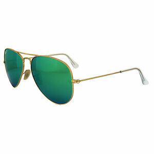 22ddccbc09558 Ray-Ban RB3025 112 P9 58 mm Gold Green Mirror Polarized Aviator Sunglasses