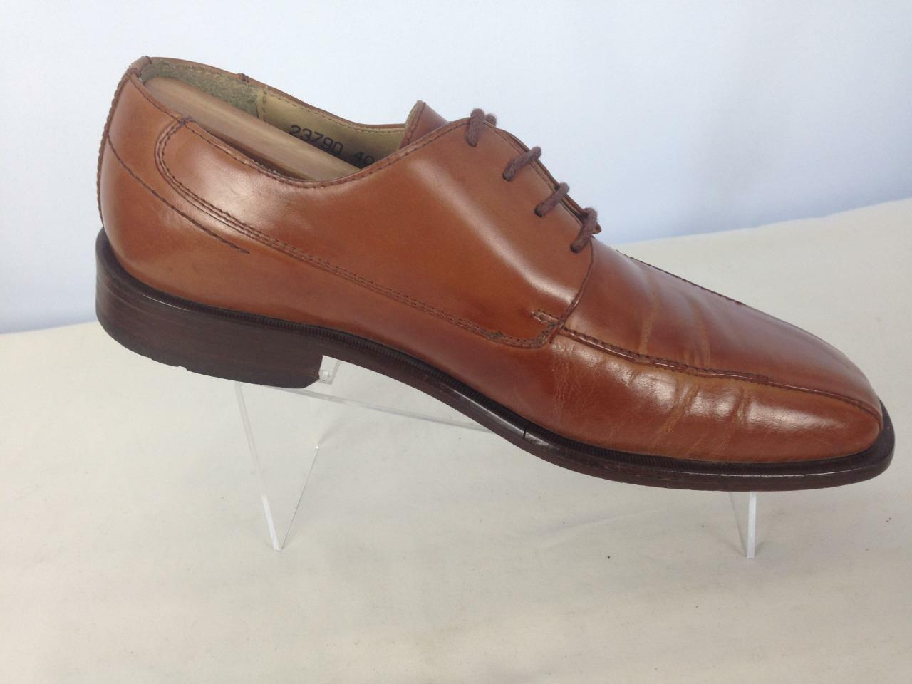Stacy Adams Men's Brown Leather Lace-up Dress shoes Sz 7M   B612