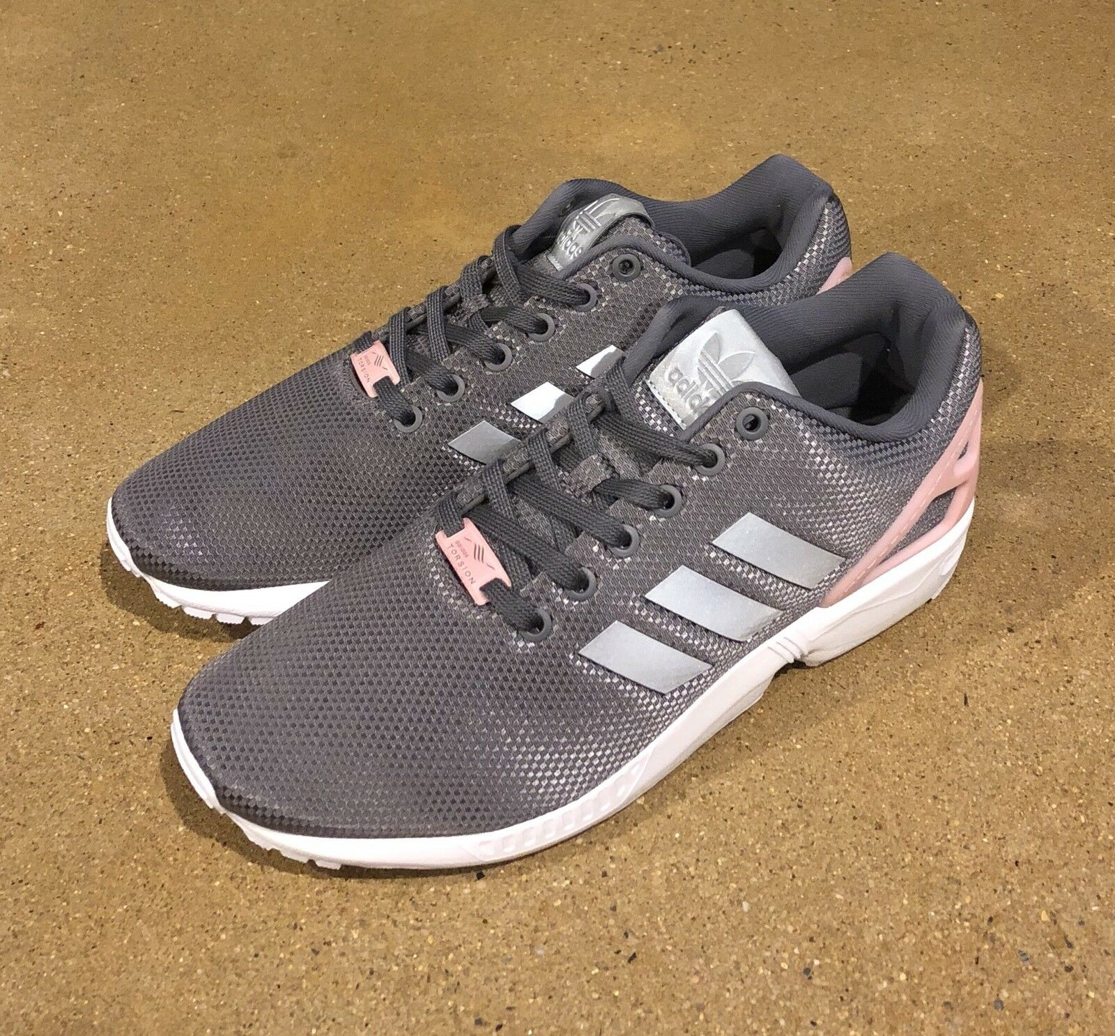 b4a09dffa3f81 ... Adidas Zx Flux Women s Size 9.5 US US US Grey Pink Running Cross  Trainer Shoes 99cc54 ...