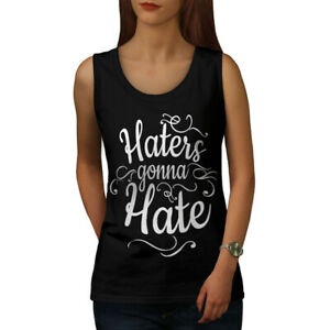 Wellcoda-Hasser-Gonna-Hate-Damen-Tank-Top-lustige-Athletic-Sportshirt