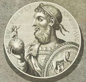 Constantius-Emperor-Julian-Julien-Apostata-Imperator-Rome-Engraving-18th-c1750