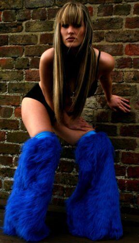Funki-B Many colours Faux plain fur overknee fluffies legwarmers UV neon rave