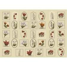 25565 10 Sheets of Decoupage Paper Oslo Flowers and Writing 17gsm