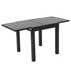 Das Bild Wird Geladen Tisch Outdoor Geeignet Ausziehbar Terrassentisch  Glas Grau Anthrazit
