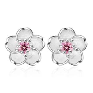 925-Silver-Crystal-Cherry-Blossoms-Flower-Ear-Stud-Earrings-For-Women-Girl-58