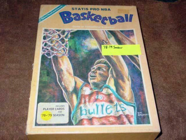 Avalon Hill  Statiss Pro BASKETBALL Spel NBA Basketboll 1978-79 Season (PUNCED)