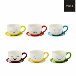 Ivyline Sow the Seed of Happiness Indoor Teacup & Saucer Plant Pot ...