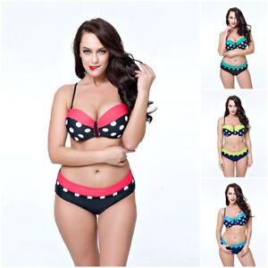 Bademode Bikini Schwimmen Swimsuit Freizeit 2019 Oversize Damen Übergröße