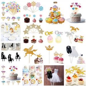 Cake-Toppers-Happy-Birthday-Baby-Shower-Cupcake-Candle-Party-Decor-Supplies-DIY