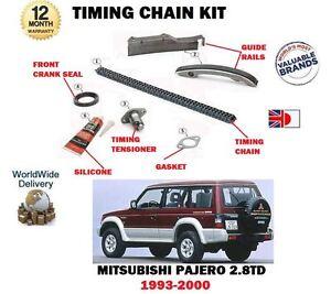 Details about FOR MITSUBISHI PAJERO 2 8TD V26 V46 4M40 ENGINE 1993-2000 NEW  TIMING CHAIN KIT