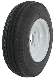 One New 4 80 8 C 6 Ply Rating Boat Trailer Tire 4 Bolt Wheel