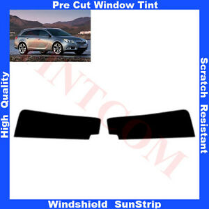 Pre-Cut-Window-Tint-Sunstrip-for-Opel-Insignia-5Doors-Estate-2009-Any-Shade