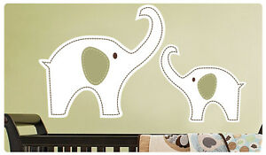 Image Is Loading Mom With Baby Elephant Wall Decal Deco Art