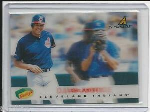 1997 Pinnacle Dave Justice Dennys 5 Of 29 3d Baseball Card
