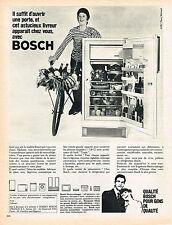 PUBLICITE  1966   BOSCH   réfrigérateur frigidaire