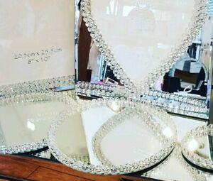 Mirror-Candle-Display-Plates-Wedding-Crystals-Mrs-Hinch-Sparkle-Home-Gift-20-cm