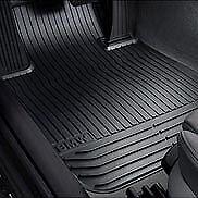 BMW 5 Series F10 2014-2015 Black Rubber All Weather Floor Mats Front Set OEM