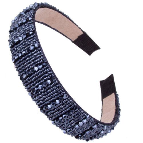 Chic Women/'s Beaded Crystal Wide Hairband Headband Bridal Hair Hoop Accessories