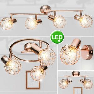 LED Decken Strahler Arbeits Zimmer ALU Geflecht Wand Lampe Flur Kugel Leuchten