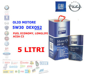 OLIO-MOTORE-DIESEL-BENZINA-OPEL-GM-5W30-DEXOS2-ACEA-C3-API-SN-CF-SYNT-5-LITRI-LT