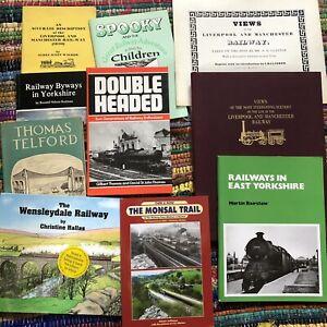 Joblot 10 railway Train books Rail Transportation BR LNER GNR travel History