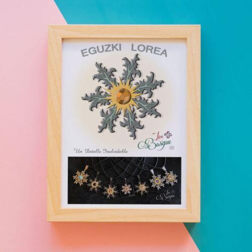 EGUZKILORE 30mm colgante FLOR del SOL circonita AMULETO BASQUE LIVE idea regalo