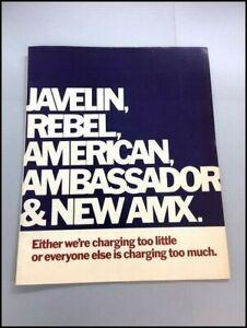 1968 AMC Rambler Javelin Rebel Ambassador American AMX Sales Brochure Catalog