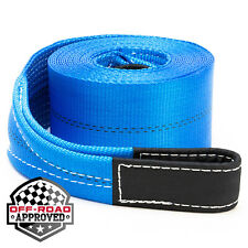 "4"" x 30' Heavy Duty Recovery Winch Tow Loop Strap 4x4 Rope Chain Towing Tow"