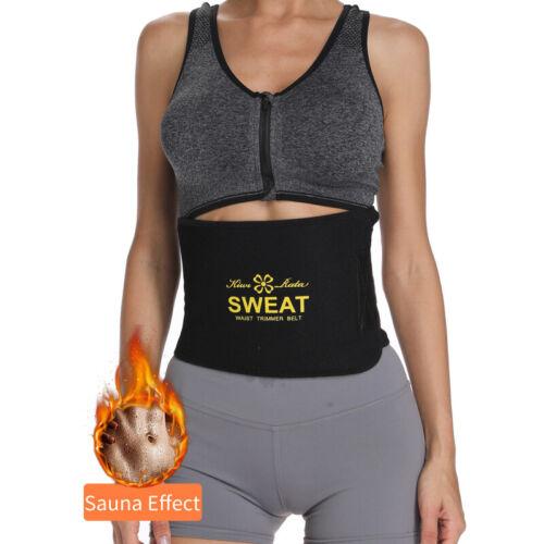 High Waist Trimmer Sauna Sweat Trainer Wrap Belt Tummy Control Fat Burner Shaper