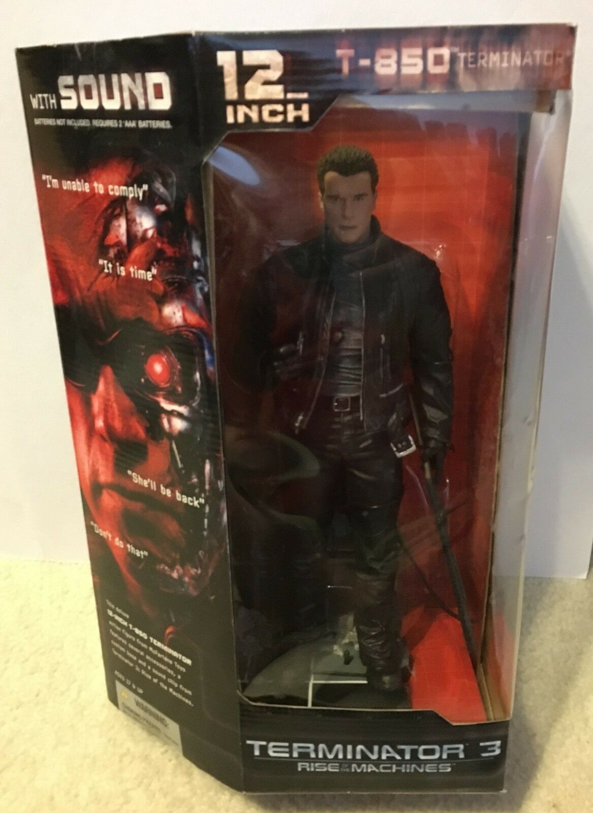 Película T-3 Terminator 12 figura de electrónica variante Schwarzenegger Nuevo Sellado