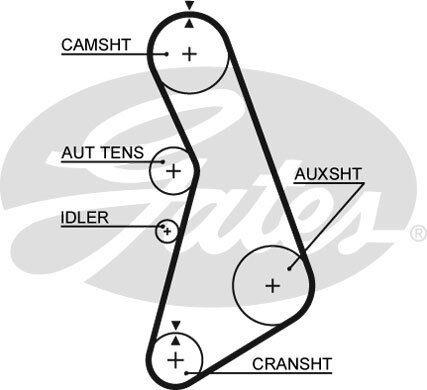 Gates Timing Cam Belt 5492XS Fits Audi A4 A6 Cabriolet VW Passat