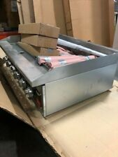 1407 Vollrath 407312 36 Charbroiler 6 Burners Lava Rock Stainless