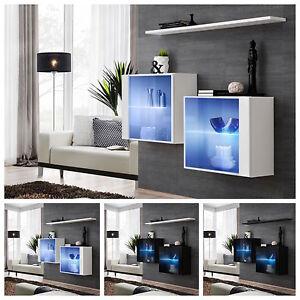 buffet-commode-armoire-console-Interrupteur-III-Haute-Brillance-PVC-poussoir