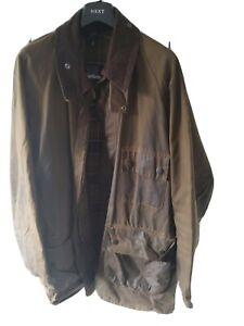 Mens-Vintage-Barbour-Solway-Zipper-wax-cotton-jacket-Brown-XXL