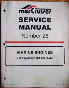 s l300 mercruiser service manual 26 gm 4 cylinder 181 cid marine,Ignition Wiring Diagram Gm Marine 181