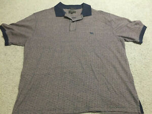 Rodd-amp-Gunn-Mens-Brown-Spotted-Polo-Shirt-Size-XL-Original-Fit-Genuine-Authentic