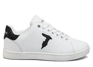 Trussardi-Jeans-79A00469-Bianco-Nero-Sneakers-Donna-Scarpa-Sportiva