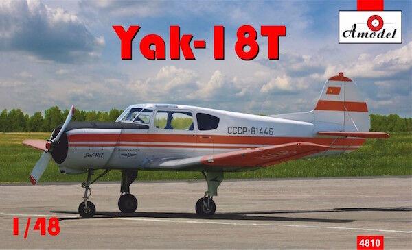Amodel Amodel Amodel 1 48 Yakovlev Yak-18t rojo Aeroflot  48010 3912f5