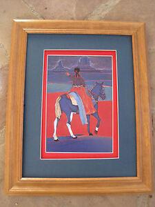 Amado Pena Native American Yaqui Mestizo Series Valle Azuly Paseo  Framed