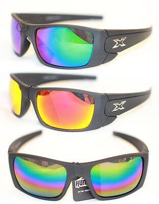Biker Sport Sonnenbrille Schwarz Matt Verspiegelt Herren 955