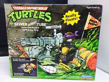 Vintage Teenage Mutant Ninja Turtles TMNT Sewer Army Tube with Box Playmates