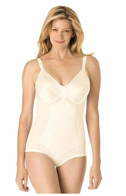 Rago Women's Plus Size High Waist Tummy Control Brief Beige 48DD